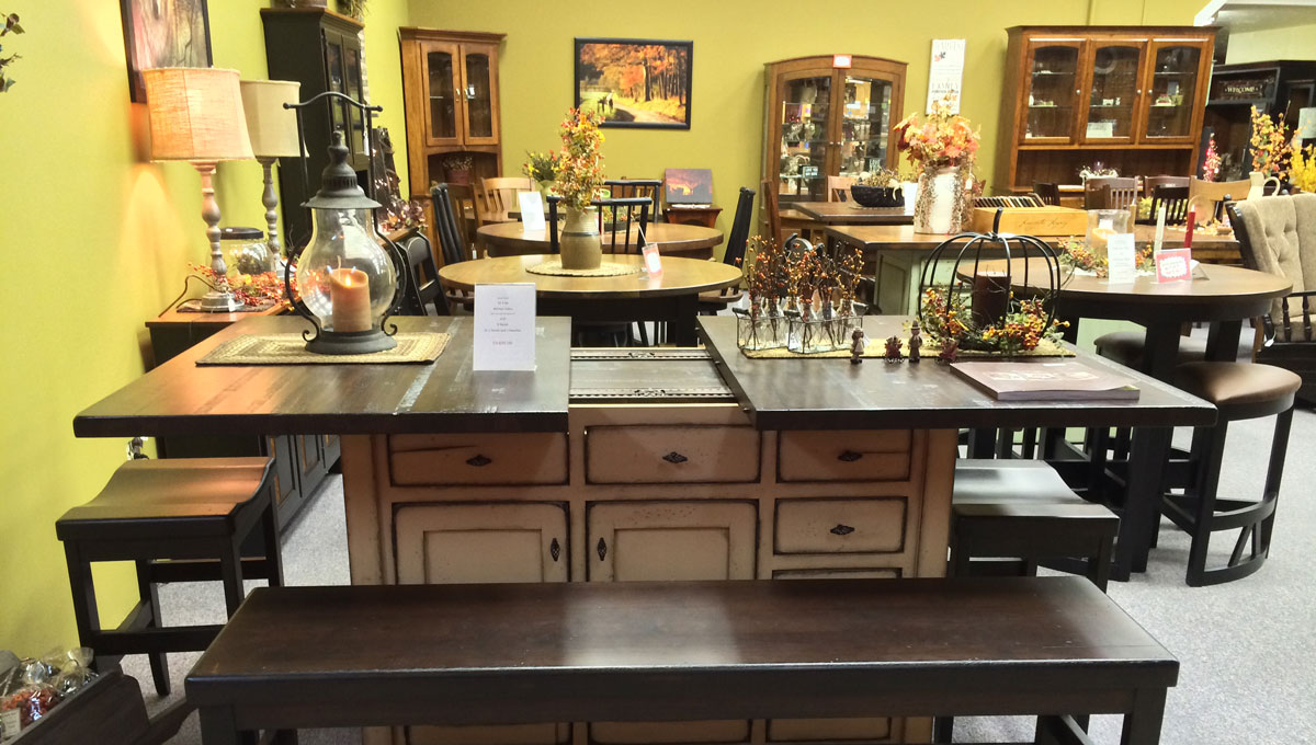pa dutch woodcraft amish furniture showroom